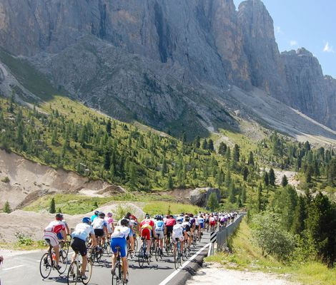 """Giro delle Dolomiti"" – cycling race week around the Dolomites"